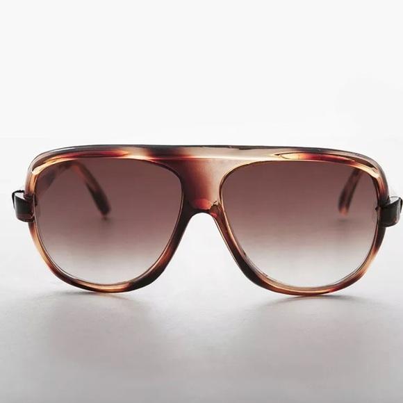 Accessories - NEW Brown Aviator Sunglass Flat Top Baron SUNNIES